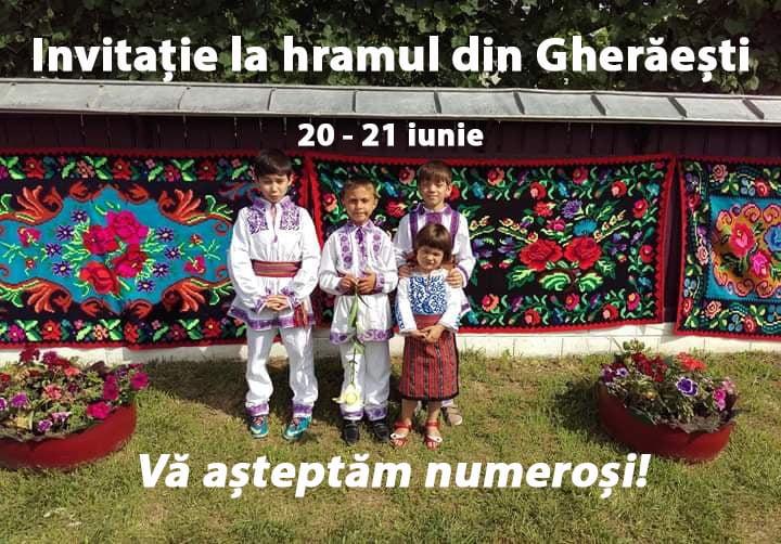 De hram, Gherăeștiul e în straie de sărbătoare: Belșug de tradiții și divertisment cu Ion Paladi – guest post Cristina Gherghel