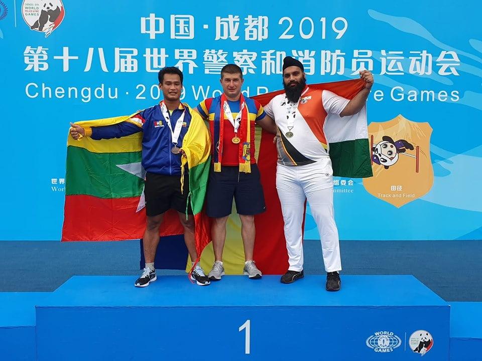 Atletul romașcan Florin Asmarandei, o nouă medalie de aur la Campionatul Mondial al polițiștilor și pompierilor