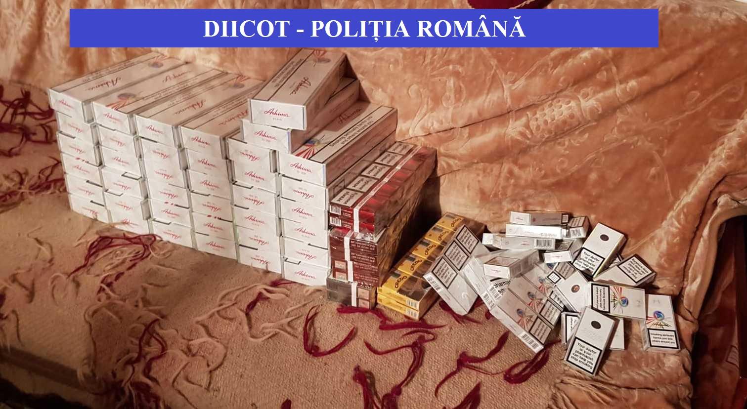 Rețea de contrabandă cu țigări din Neamț, destructurată de DIICOT. Șapte persoane au fost reținute