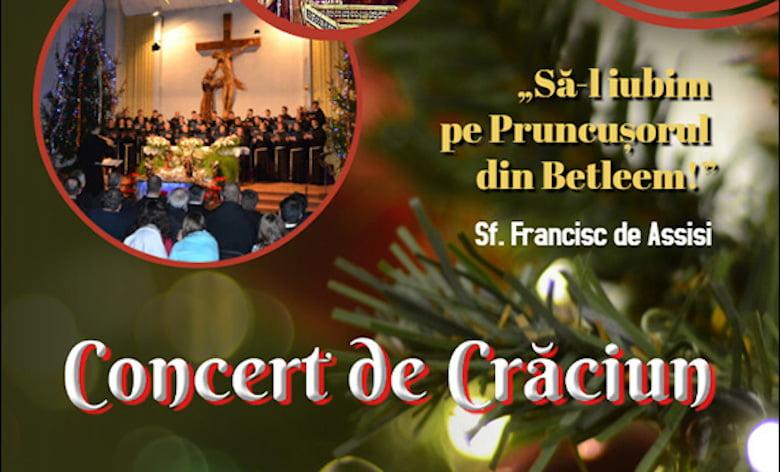 Invitaţie la concert de Crăciun, la Institutul Franciscan din Roman