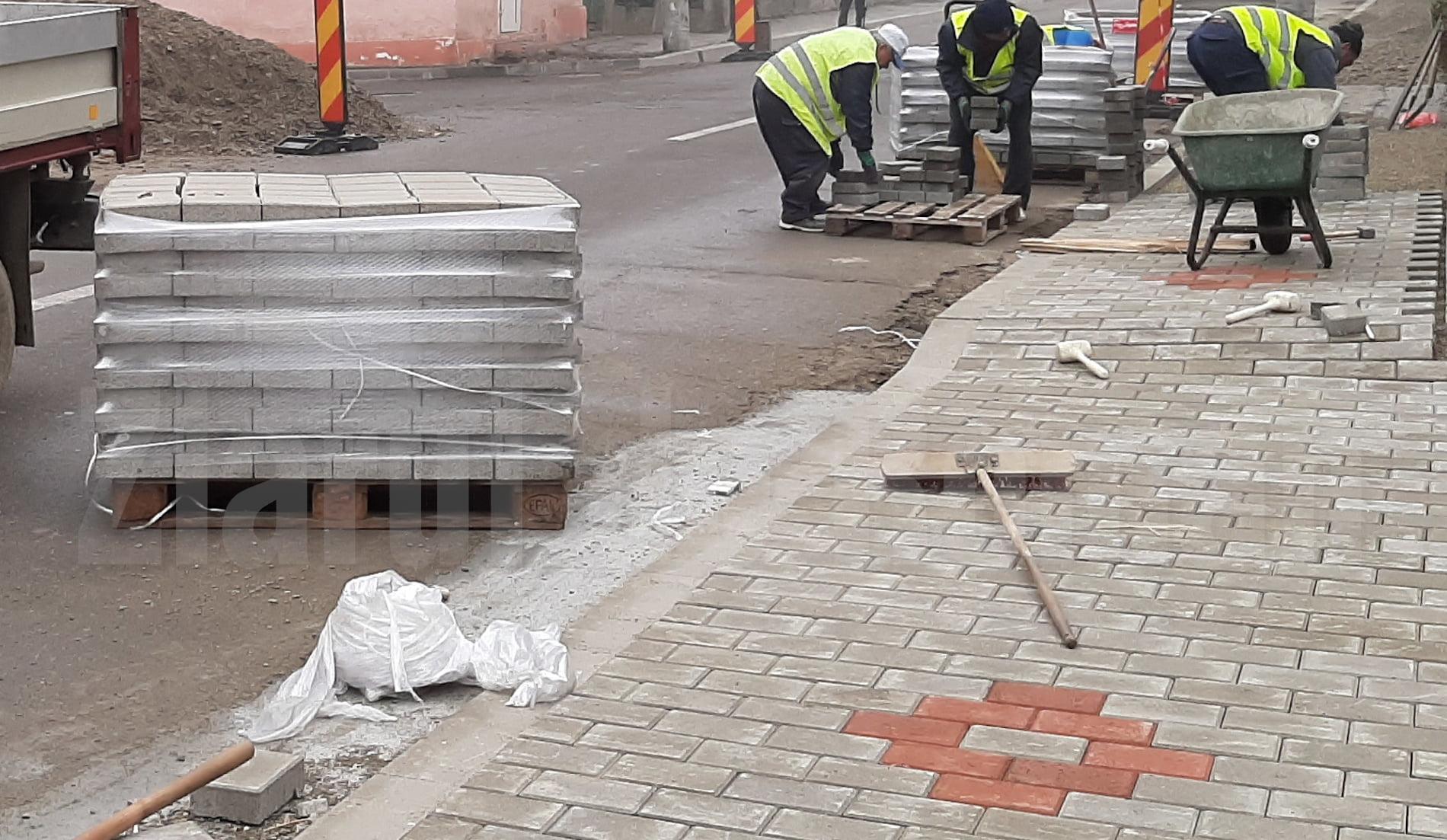 Ce trotuare sunt modernizate cu pavele, la început de an