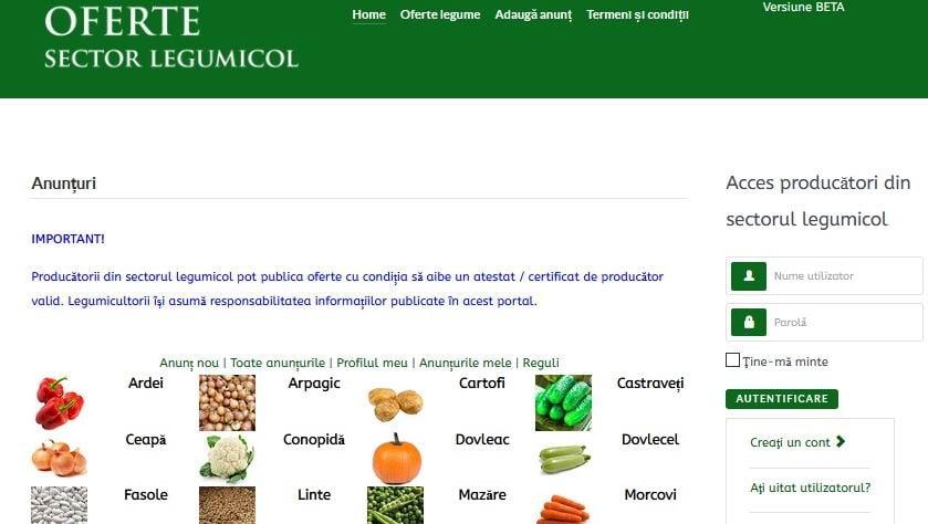Ministerul Agriculturii a lansat o platformă online destinată micilor producători agricoli, pentru a-și vinde mai ușor produsele