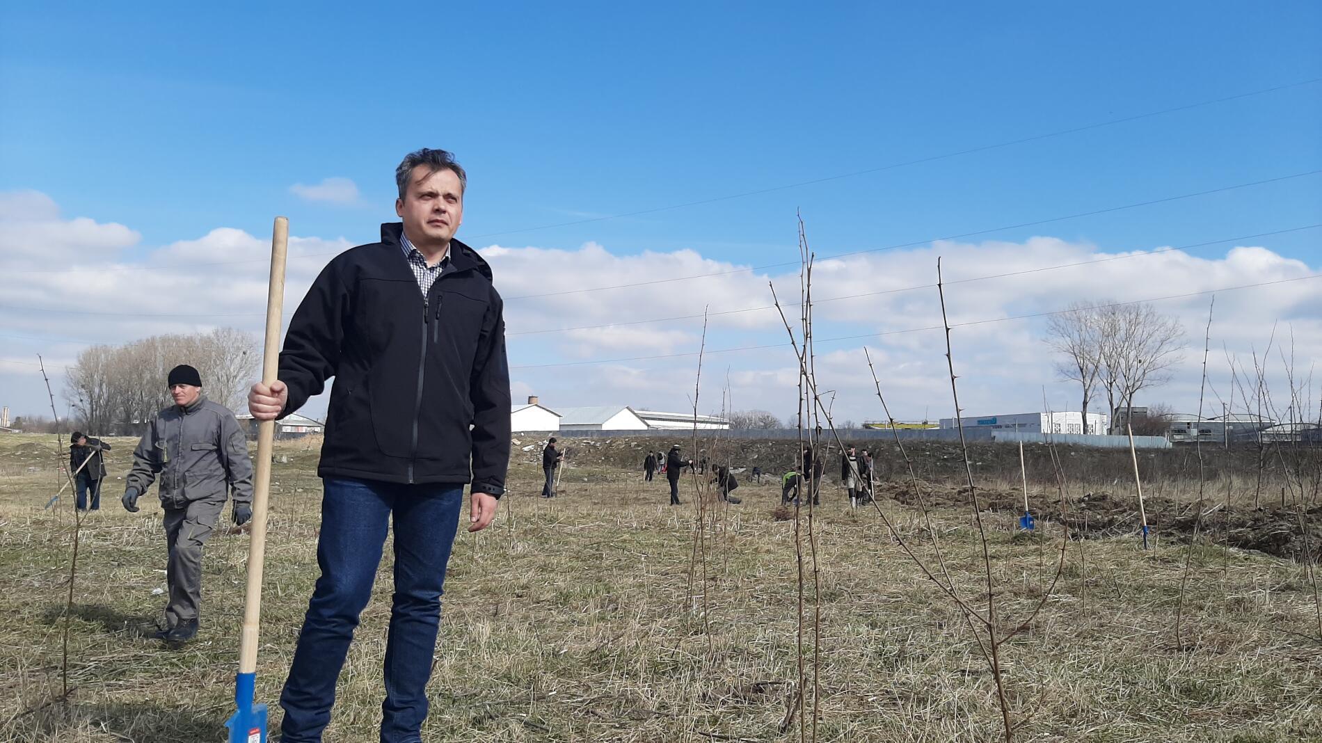 """Verde pentru viitor 3.0. Echipa Fereastra 1 a plantat mii de puieți în zona """"podului de fier"""""""
