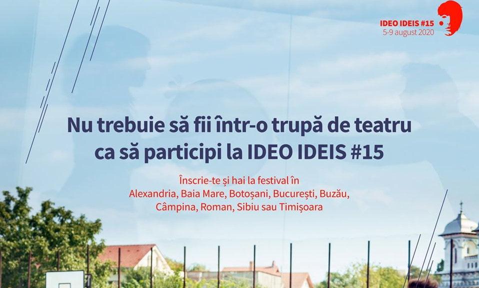 Trupa de teatru Gong aduce anul acesta festivalul Ideo Ideis la Roman