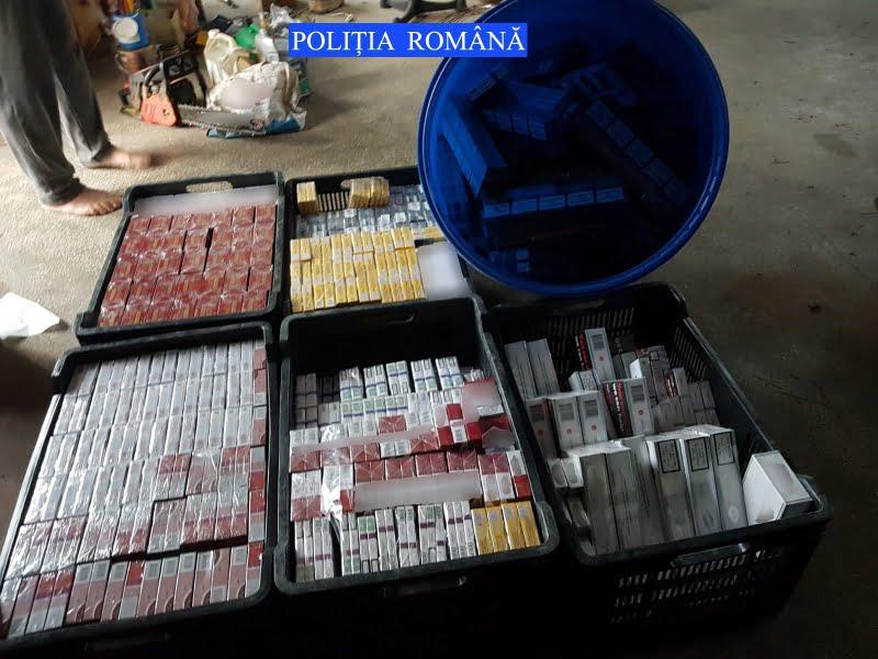 Peste 62.000 de ţigări descoperite de poliţişti, în urma unei percheziţii