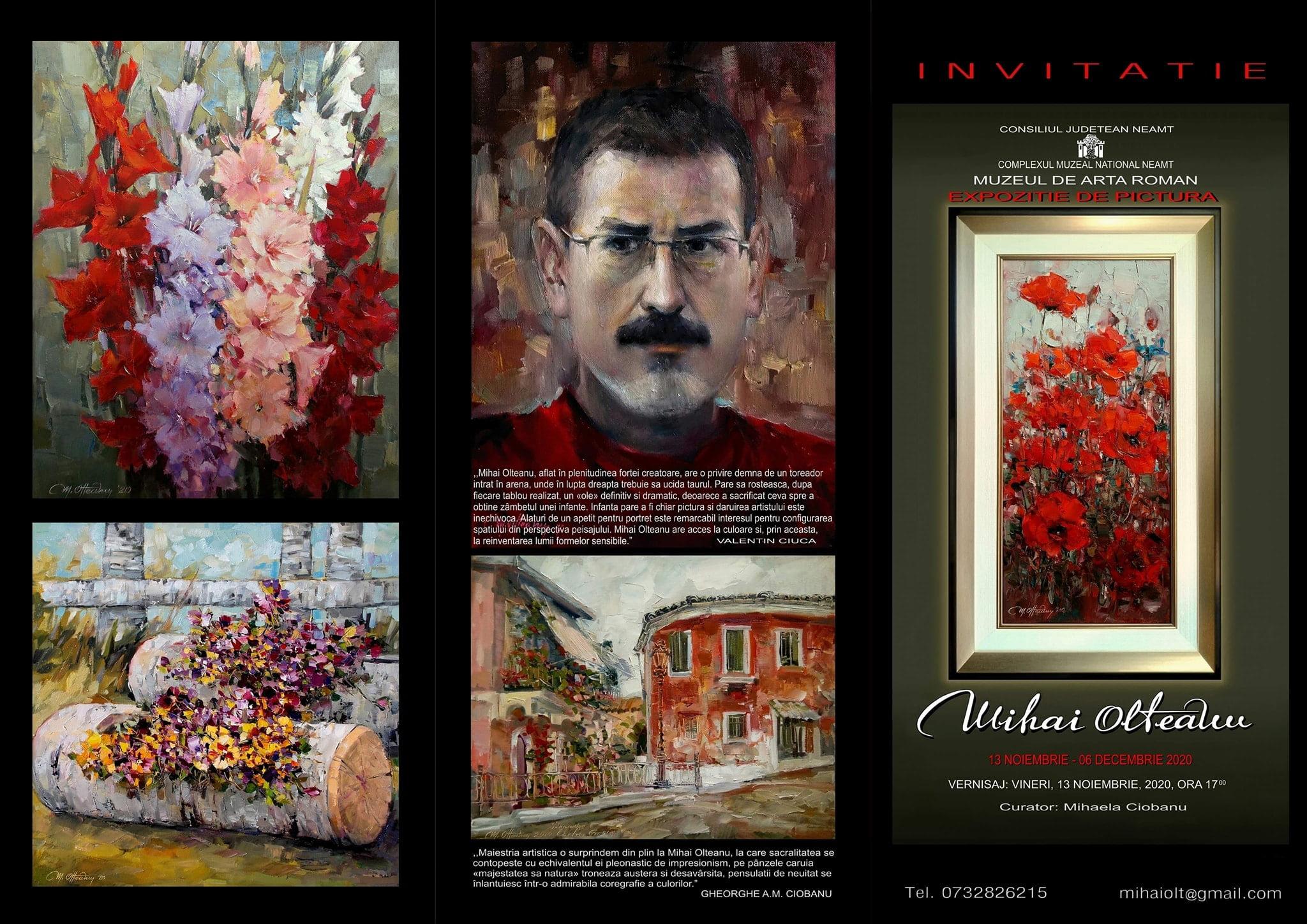 De vineri, o nouă expoziție semnată Mihai Olteanu, la Muzeul de Artă din Roman