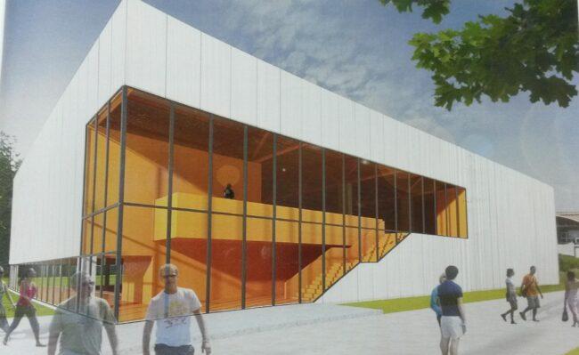 """Proiect tip al CNI pentru construire """"Sale de sport cu tribună de 102 locuri"""", cu destinația sală de sport școlară"""