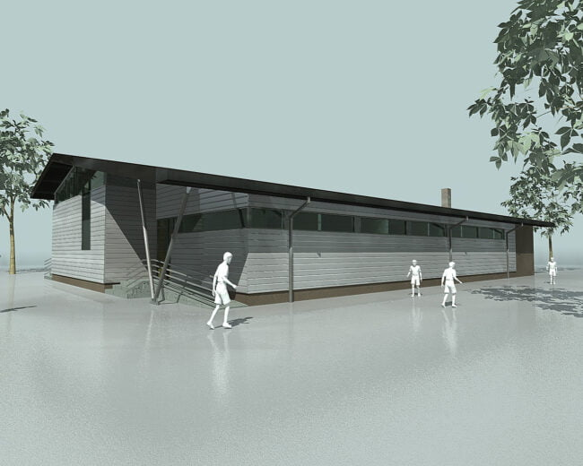 """Proiect tip al CNI pentru construire """"Sală de educație fizică școlară"""""""