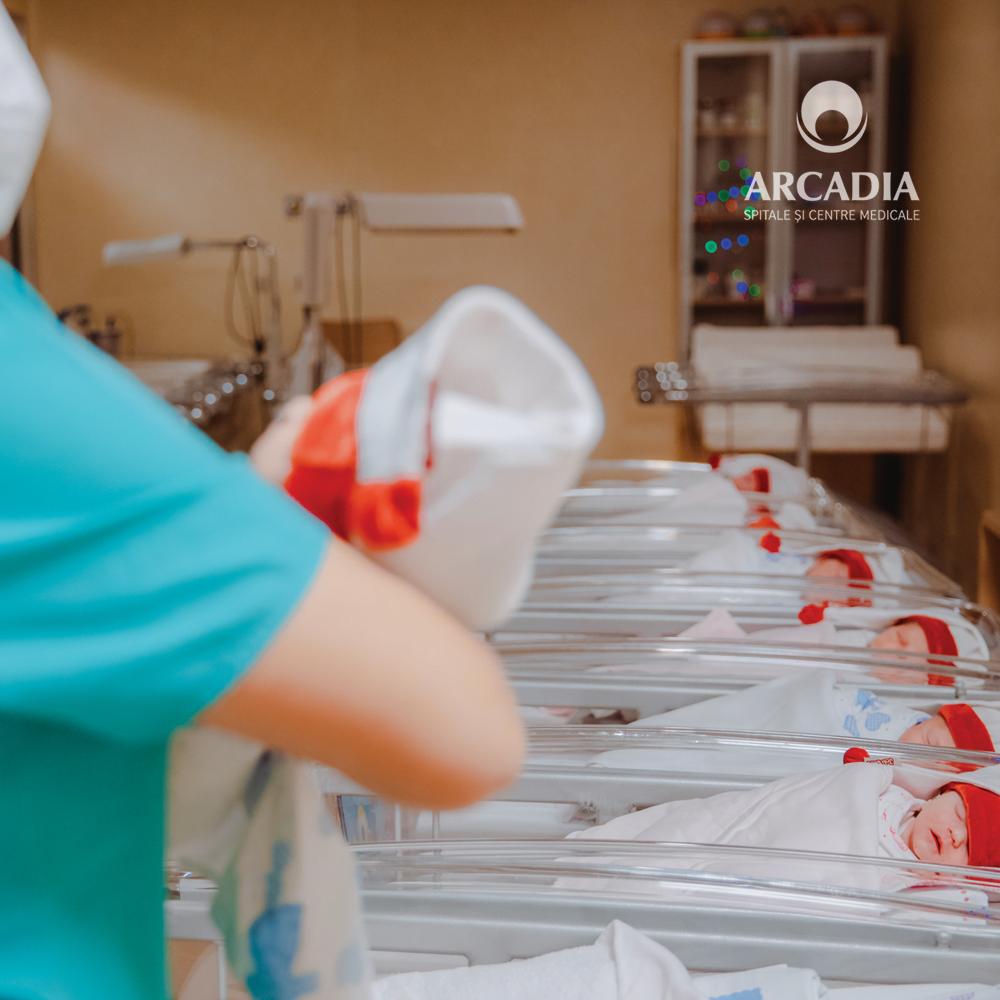 34 de bebeluși s-au născut în siguranță în perioada sărbătorilor la Maternitatea Arcadia