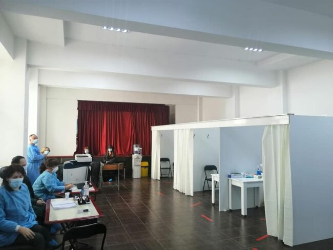 Centrul de vaccinare de la Simionești, comuna Cordun