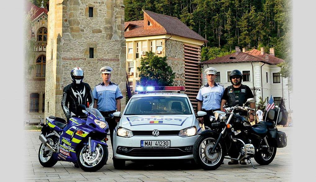 Campanie de prevenire a accidentelor rutiere, organizată de IPJ Neamț și motocicliștii din județ