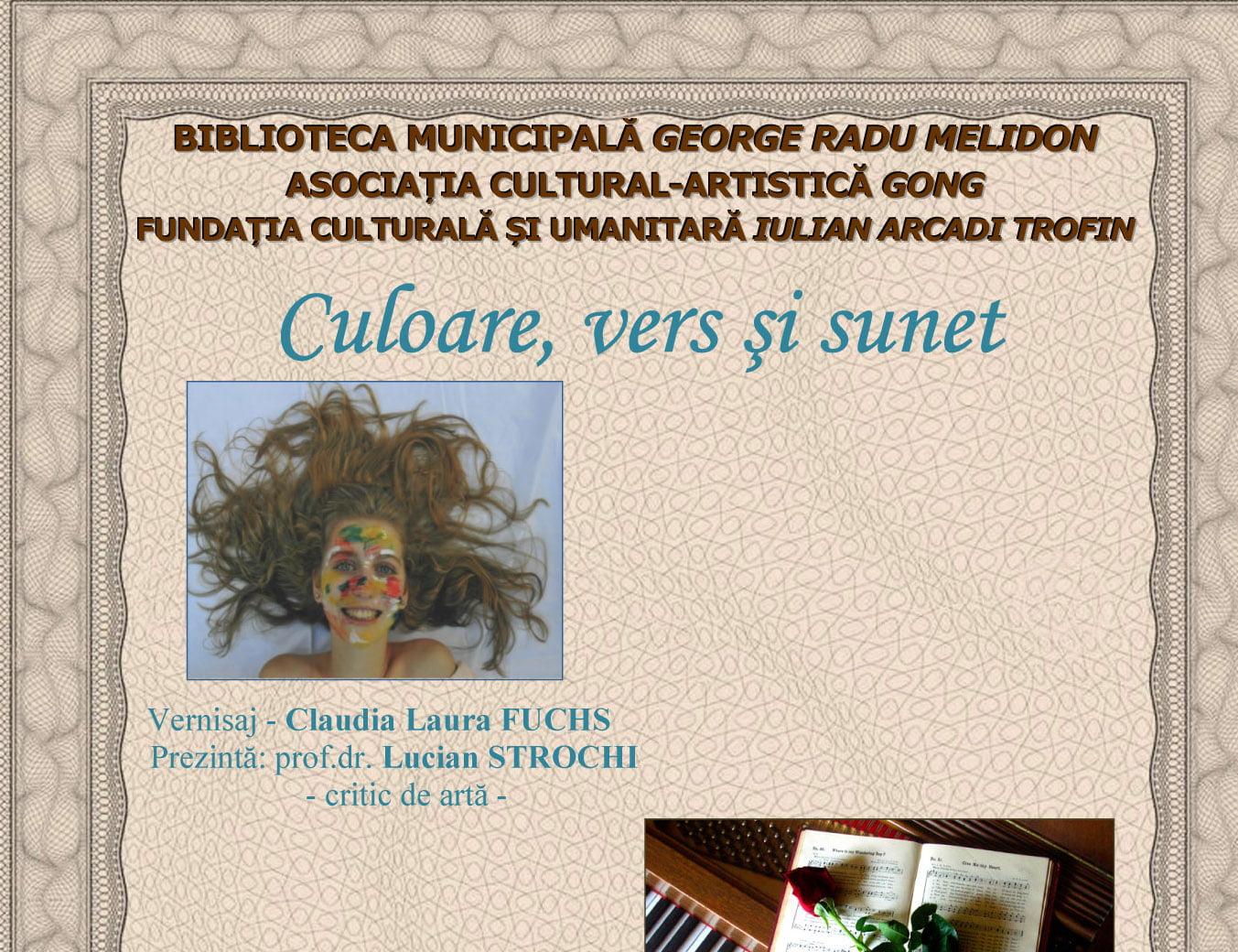 """""""Culoare, vers și sunet"""", un eveniment multicultural la Biblioteca """"George Radu Melidon"""""""