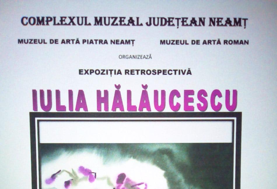 Expoziție retrospectivă Iulia Hălăucescu, de vineri la Muzeul de Artă din Roman