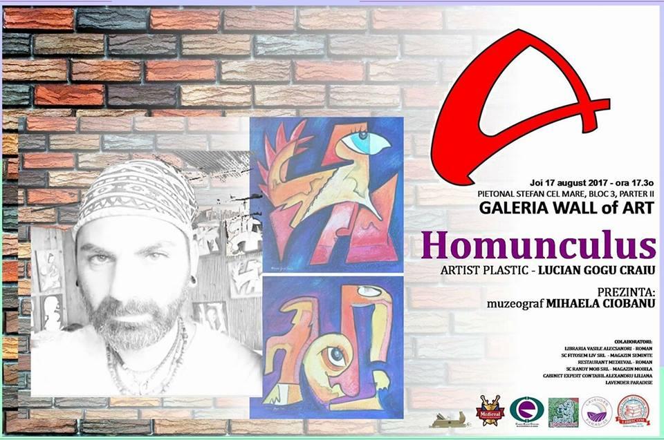 Homunculus, cu Lucian Gogu Craiu, la Galeria Wall of Art