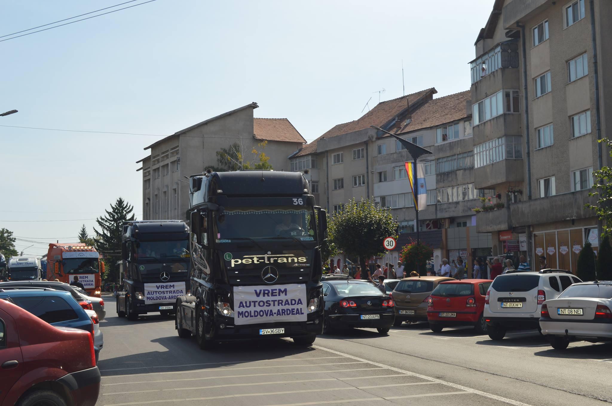 Romașcani la marșul de sprijin pentru Autostrada Iași – Tîrgu Mureș