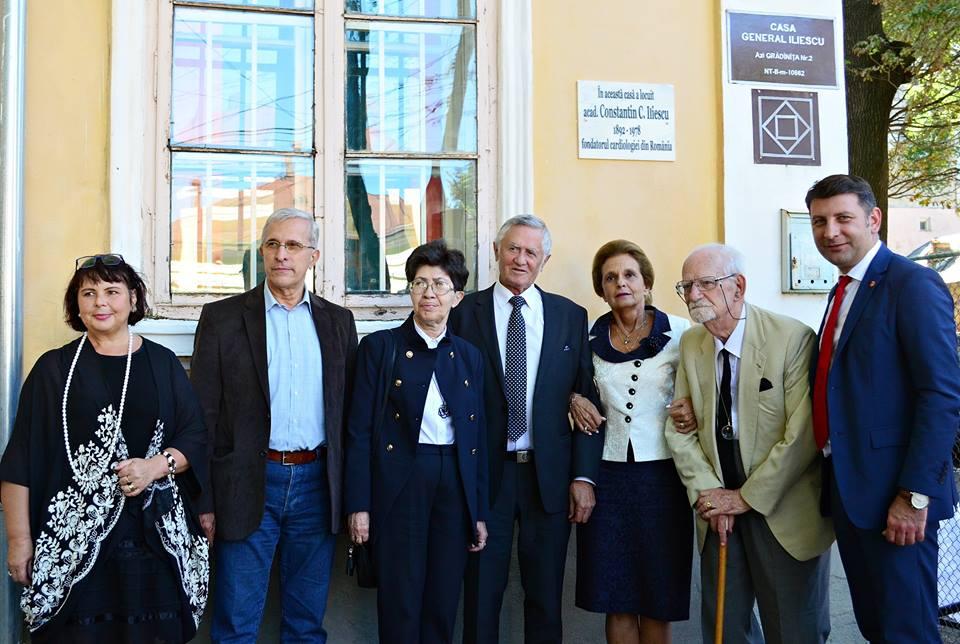 Fondatorul cardiologiei românești, academician Constantin C. Iliescu, omagiat la Roman, orașul său natal