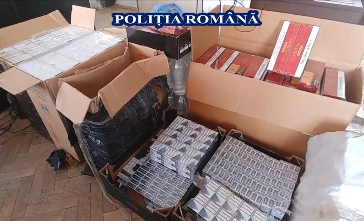 Percheziţii în Neamț la persoane bănuite de contrabandă cu ţigări