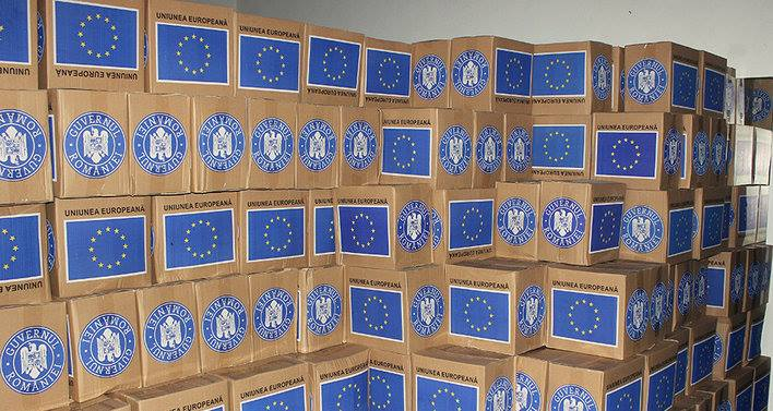 Se redistribuie pachetele cu alimente de la Uniunea Europeană
