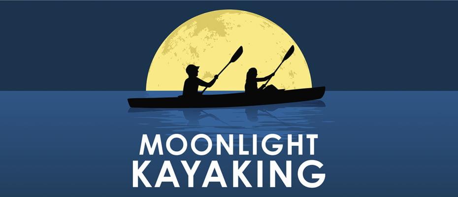 Invitaţie sub clar de lună: cu caiacul pe lacul Bâtca Doamnei