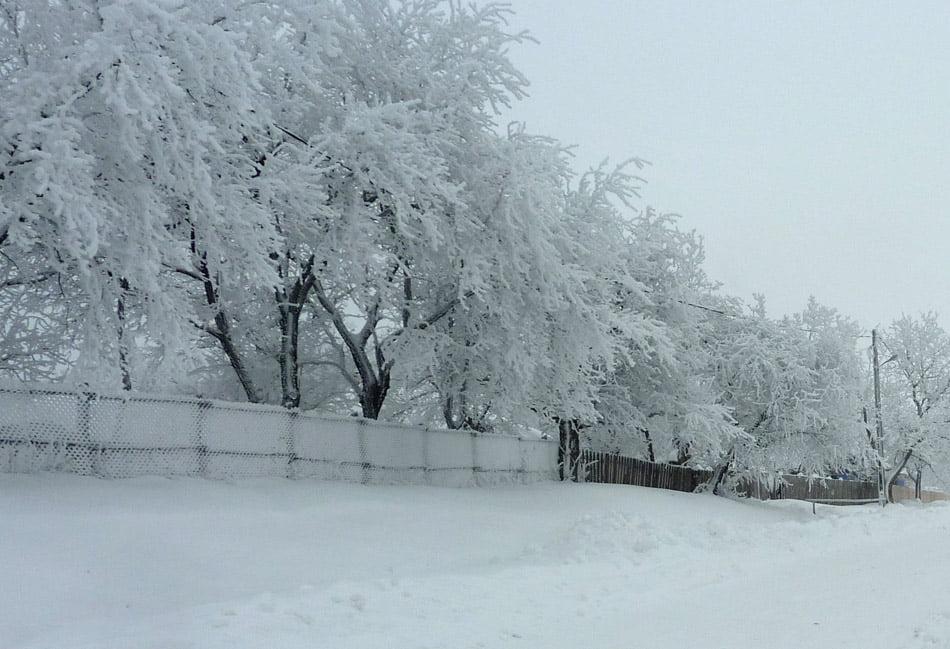 A venit iarna în Neamț: drumuri afectate, mii de nemțeni nu au curent