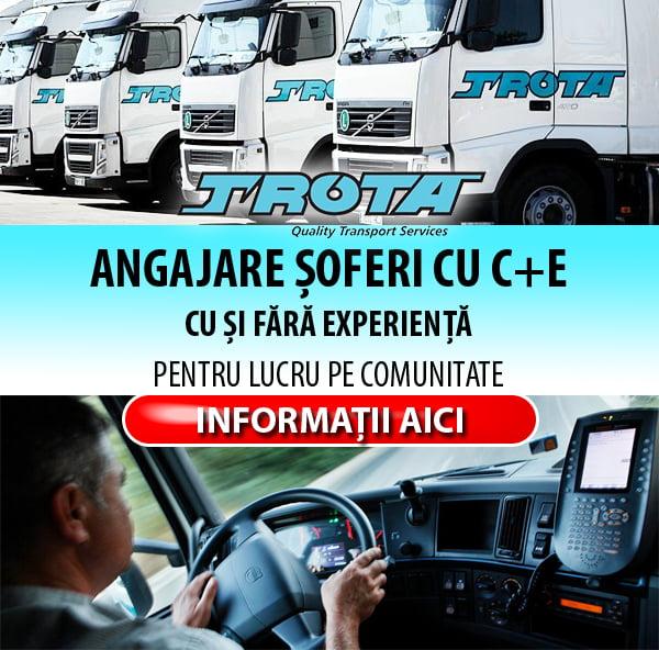 Grupul TROTA angajează pe România – şoferi profesionişti cu C+E