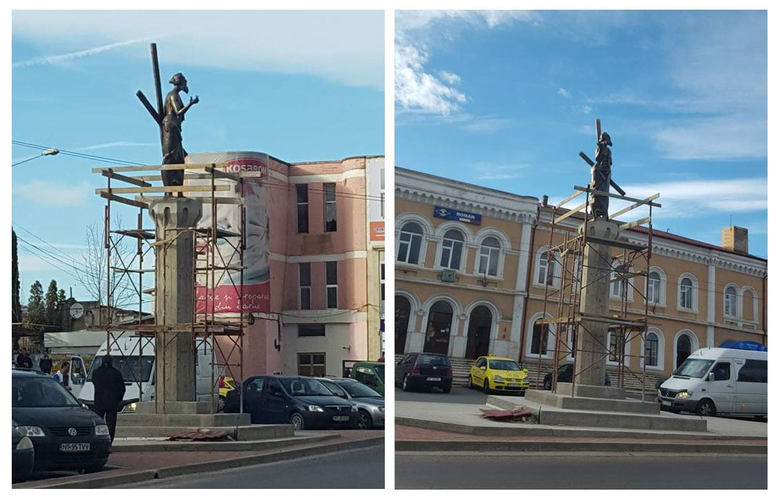 Statuia Sfântului Andrei, de la Gară, va fi inaugurată marți