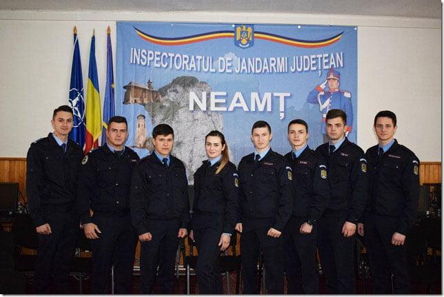Elevi în practică la Jandarmeria Neamţ