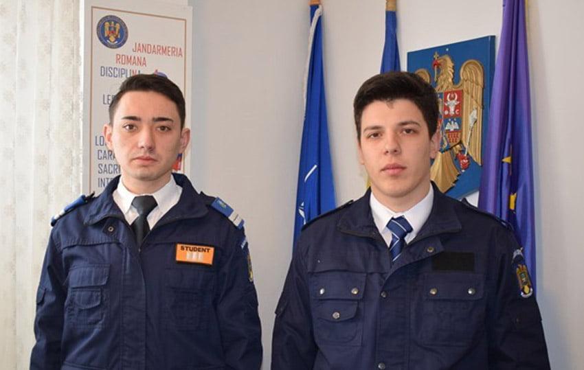 Studenți jandarmi de la Academia de Poliție, în practică la Roman