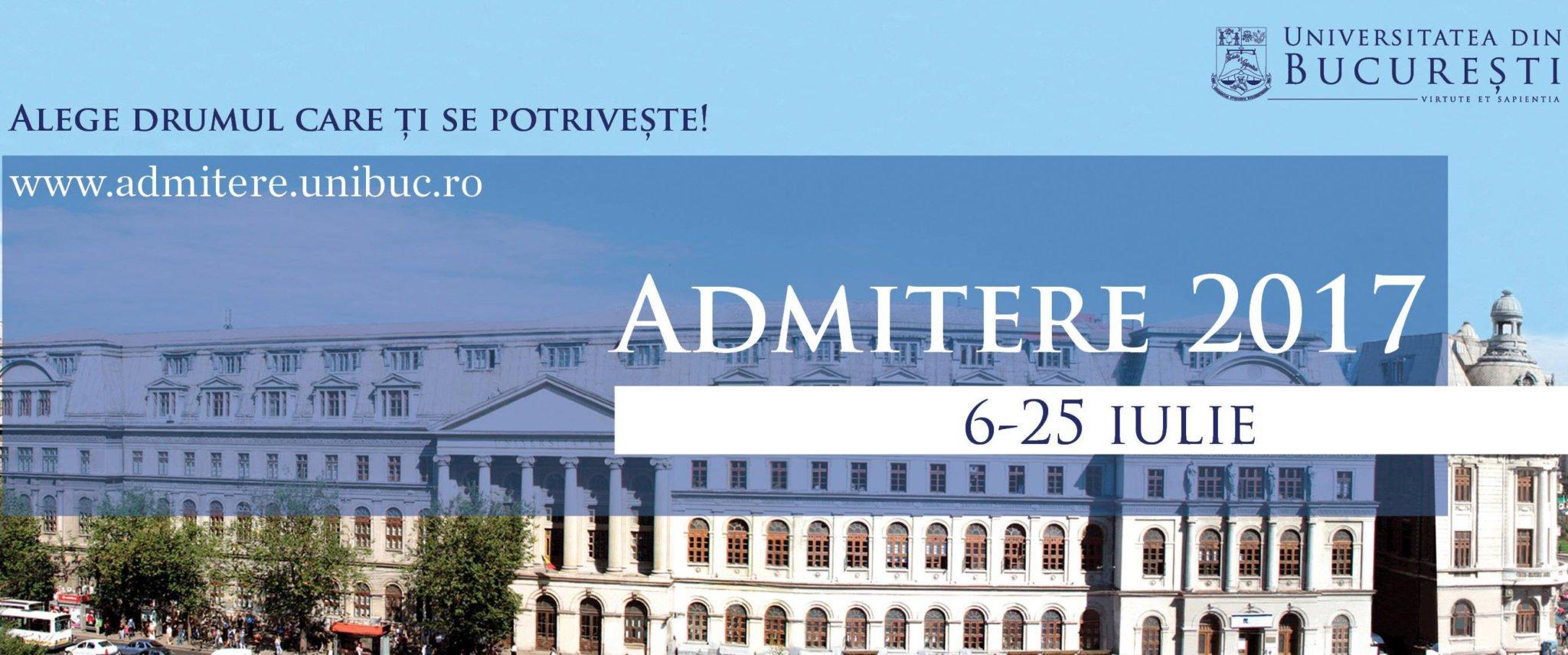 Universitatea din București asigură cazare gratuită în căminele proprii candidaților la admiterea 2017