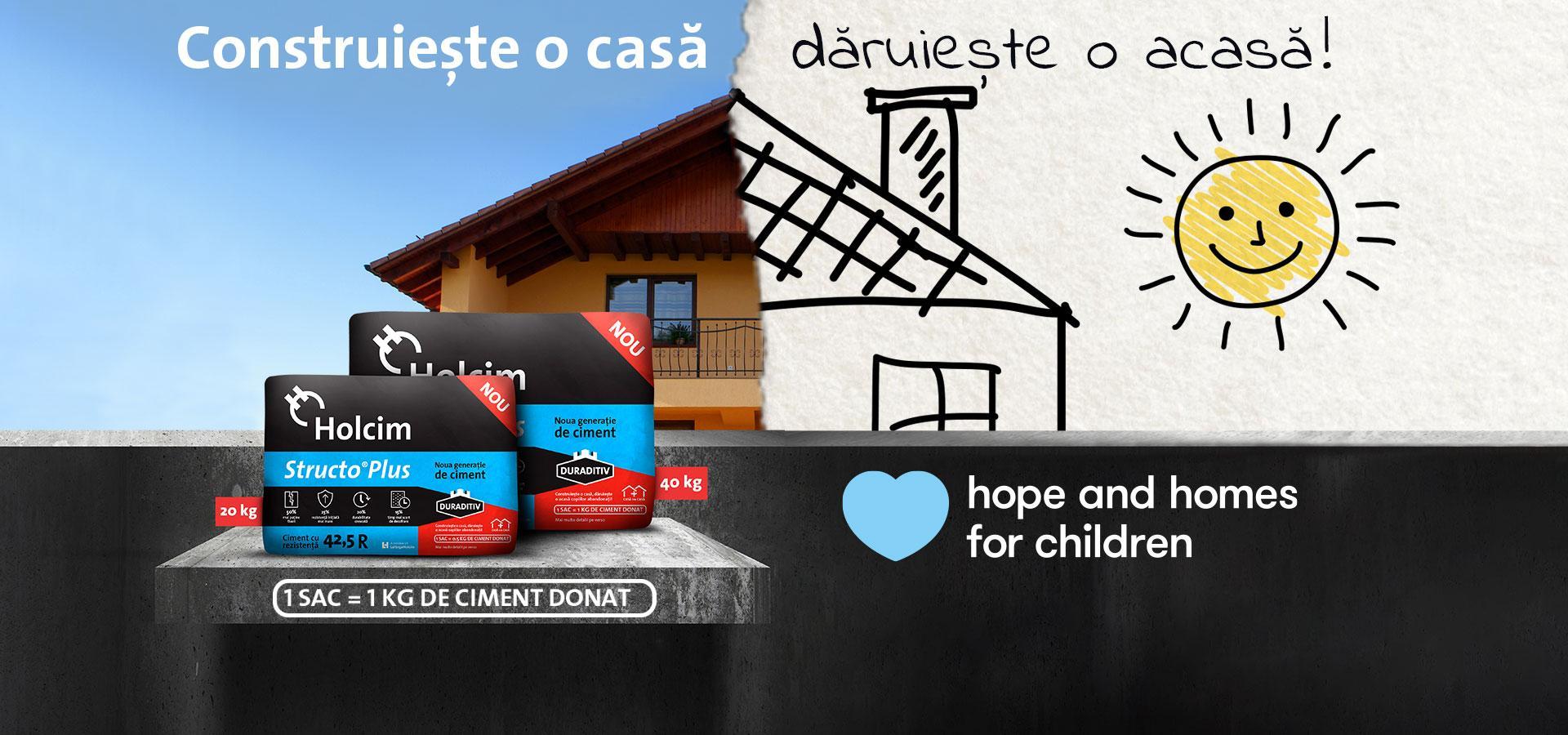 Case pentru copiii instituționalizați, construite în Neamț de Hope and Homes for Children și Holcim
