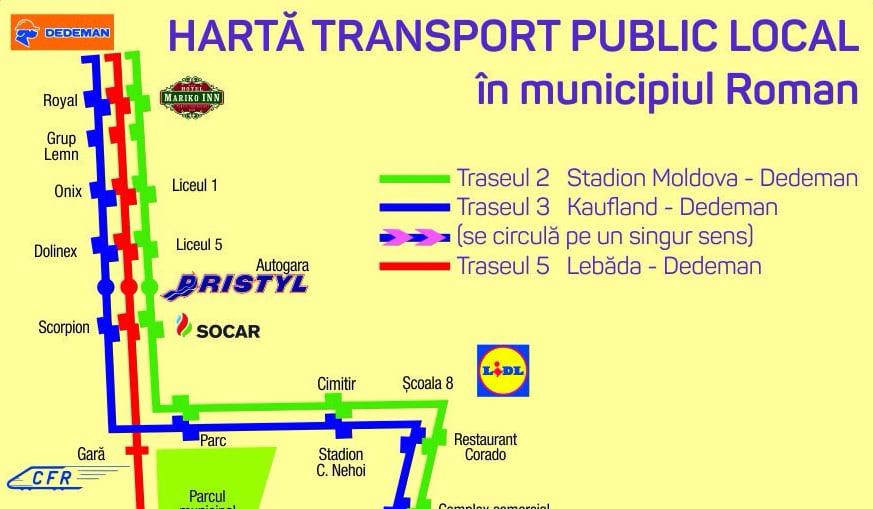 Se reorganizează traseele de transport public în comun