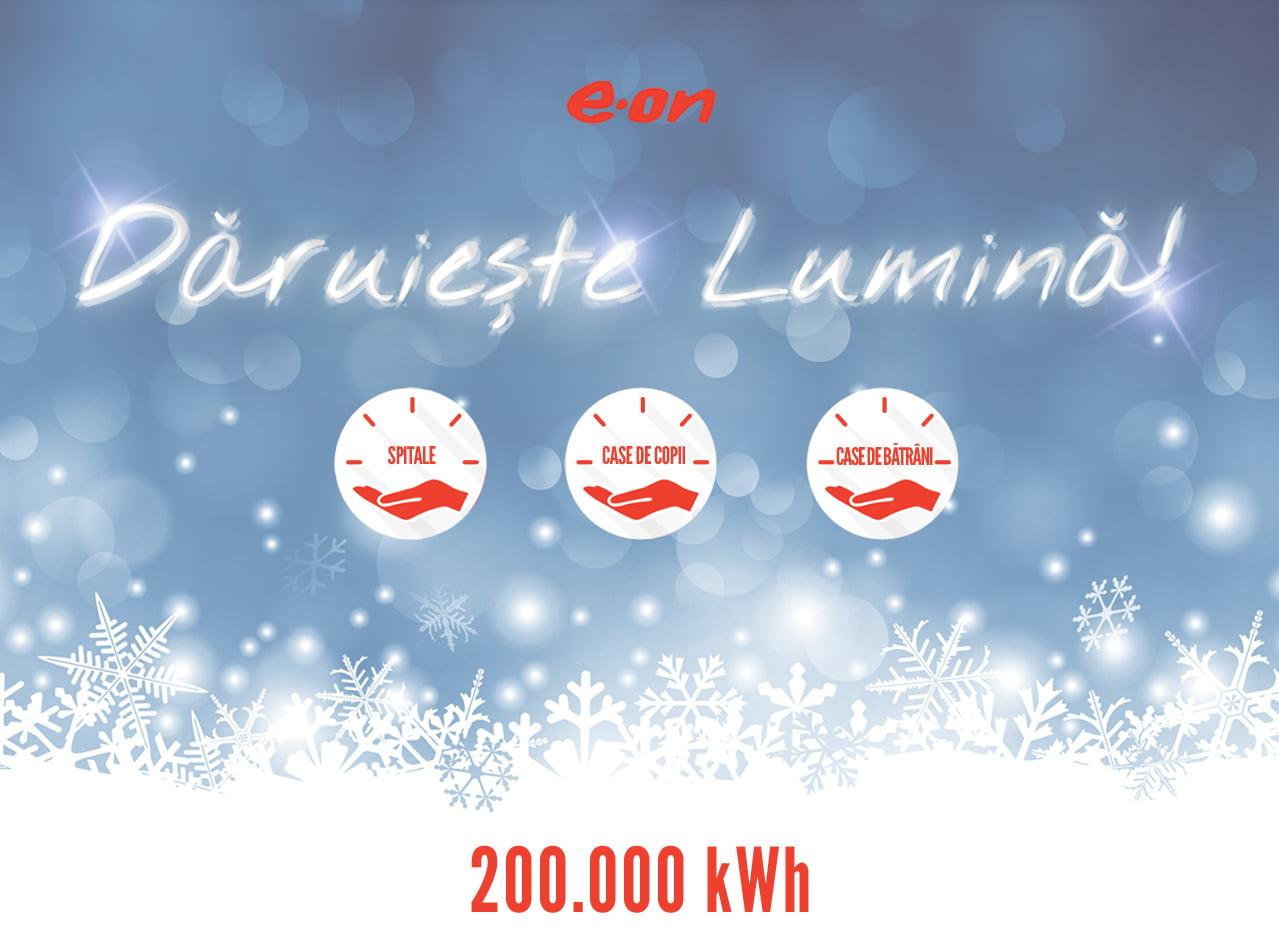 """Românii au dăruit 200.000 kWh de energie în cadrul campaniei E.ON România """"Dăruieşte lumină"""". Între beneficiari se numără și Centrul Școlar pentru Educație Incluzivă din Roman"""