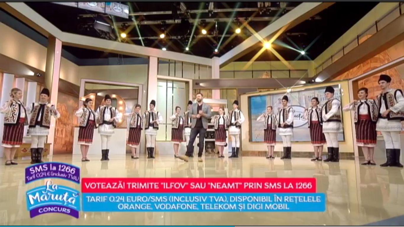 """Ansamblul """"Comorile Neamțului"""", în semifinala concursului organizat de ProTV"""