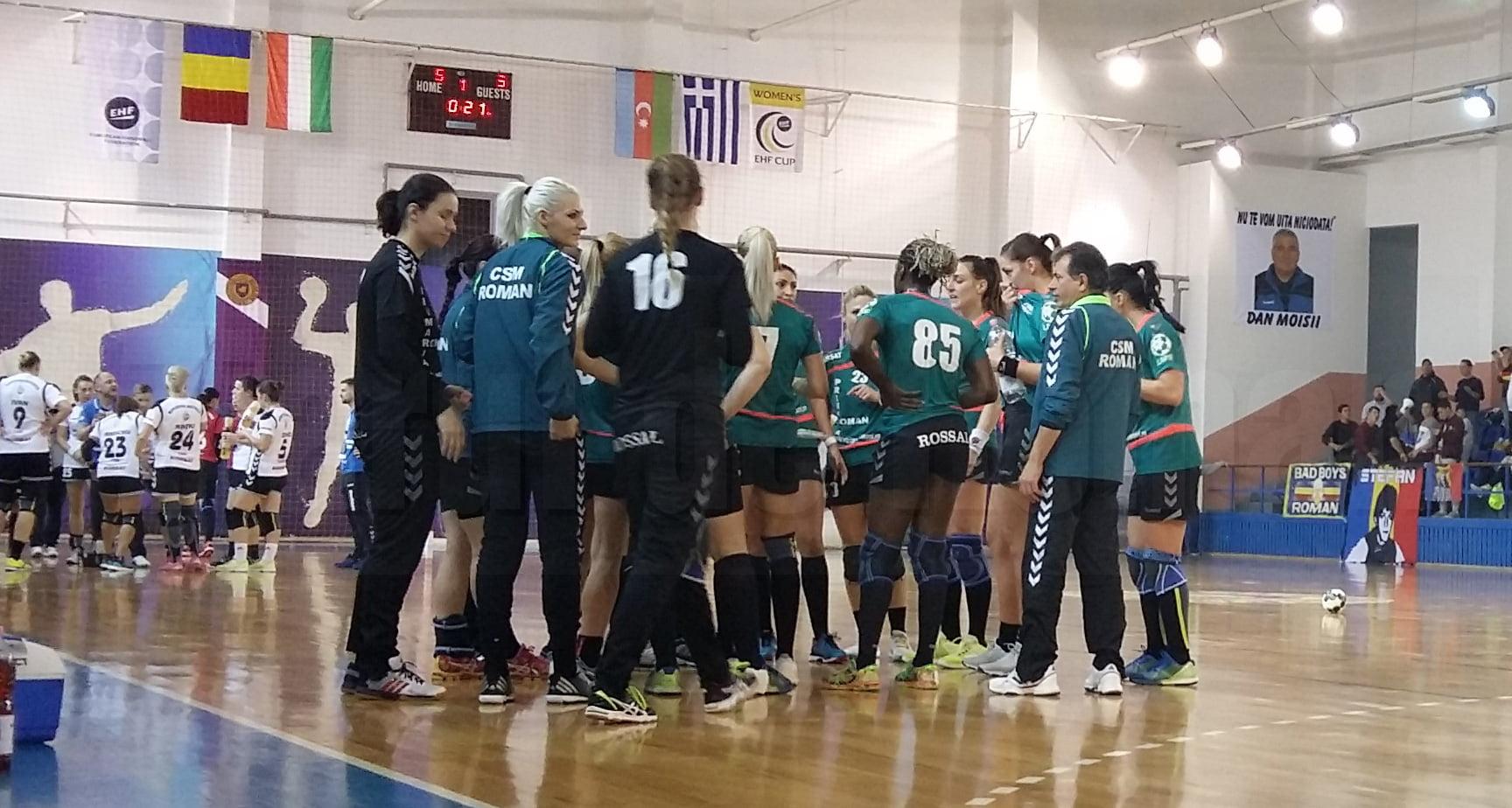 Amenzi și penalizări cu 30% din salarii pentru trei luni, la echipa de handbal CSM Roman