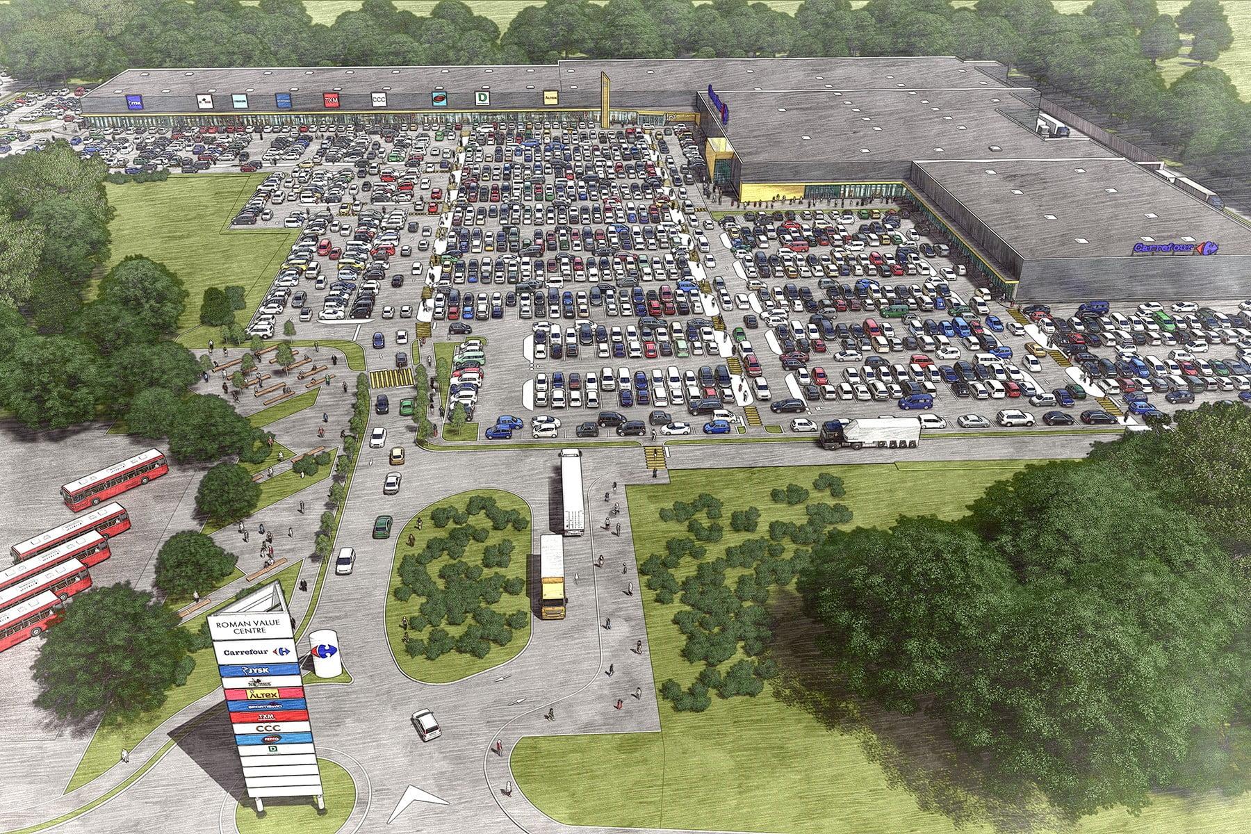 """Cum va arăta """"Roman Value Centre"""", centrul comercial care se ridică pe fostul IMR"""