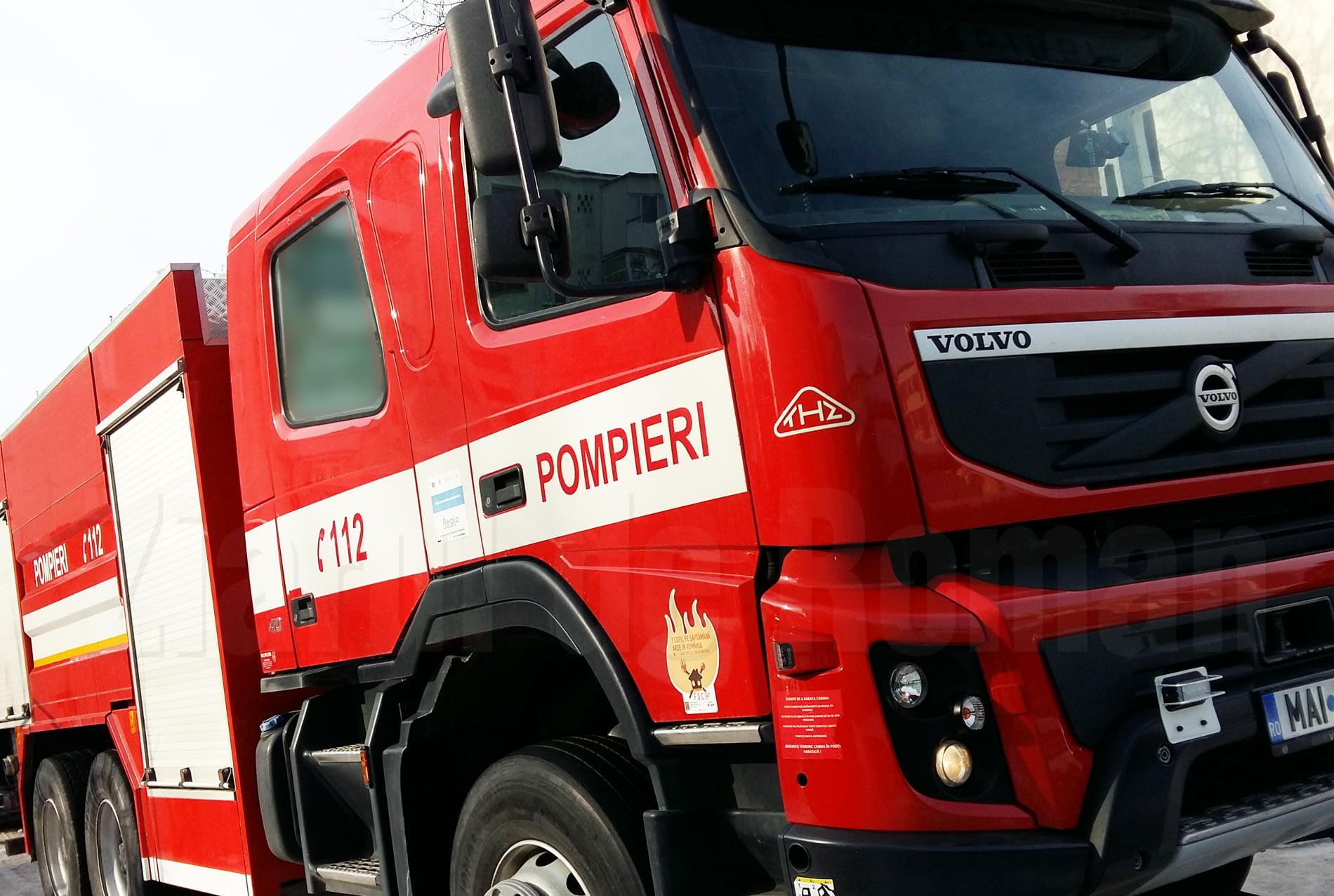 Incendiu la Botești, din cauza fumatului