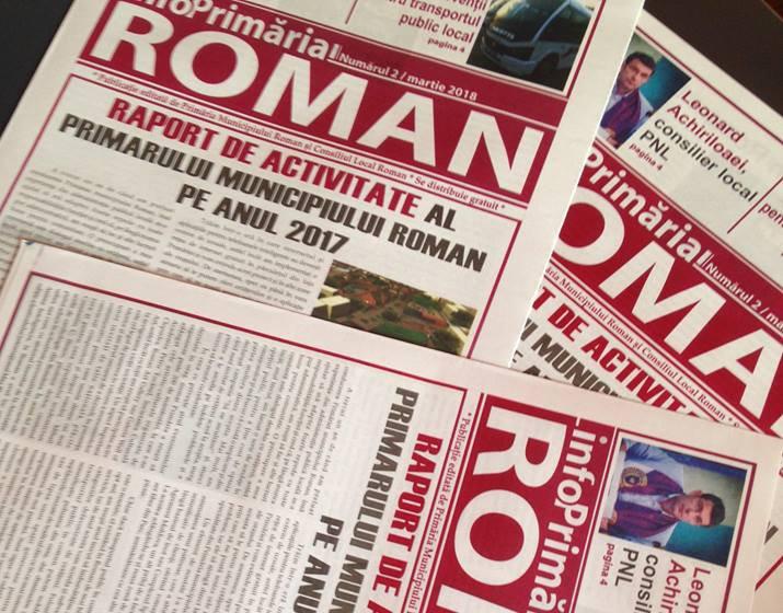 Primăria Roman a tipărit cel de-al doilea număr al ziarului propriu