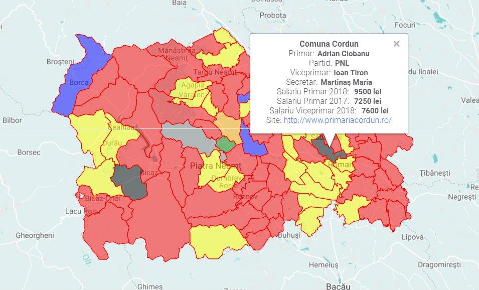 Harta salariilor din primăriile din județul Neamț