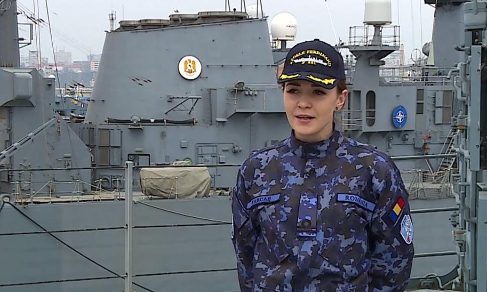 [VIDEO] Romașcana Ștefana Farcaș, ofițer de Marină, conduce la 26 de ani o navă de 60.000 de cai putere