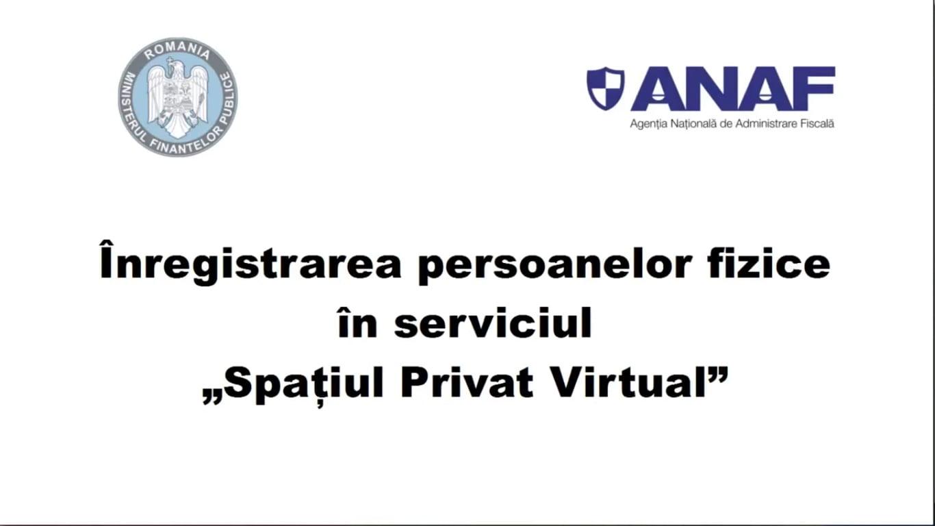 [VIDEO] MFP facilitează înregistrarea contribuabililor în Spațiul Privat Virtual