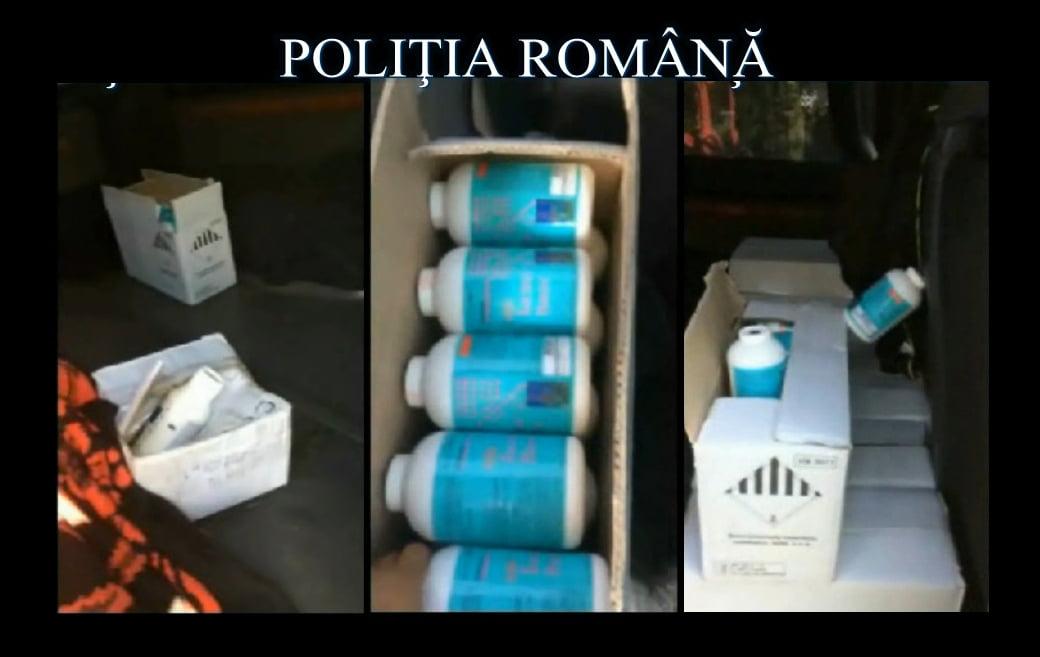 Substanţe toxice în valoare de peste 90.000 de euro, confiscate pe E 85, la Secuieni