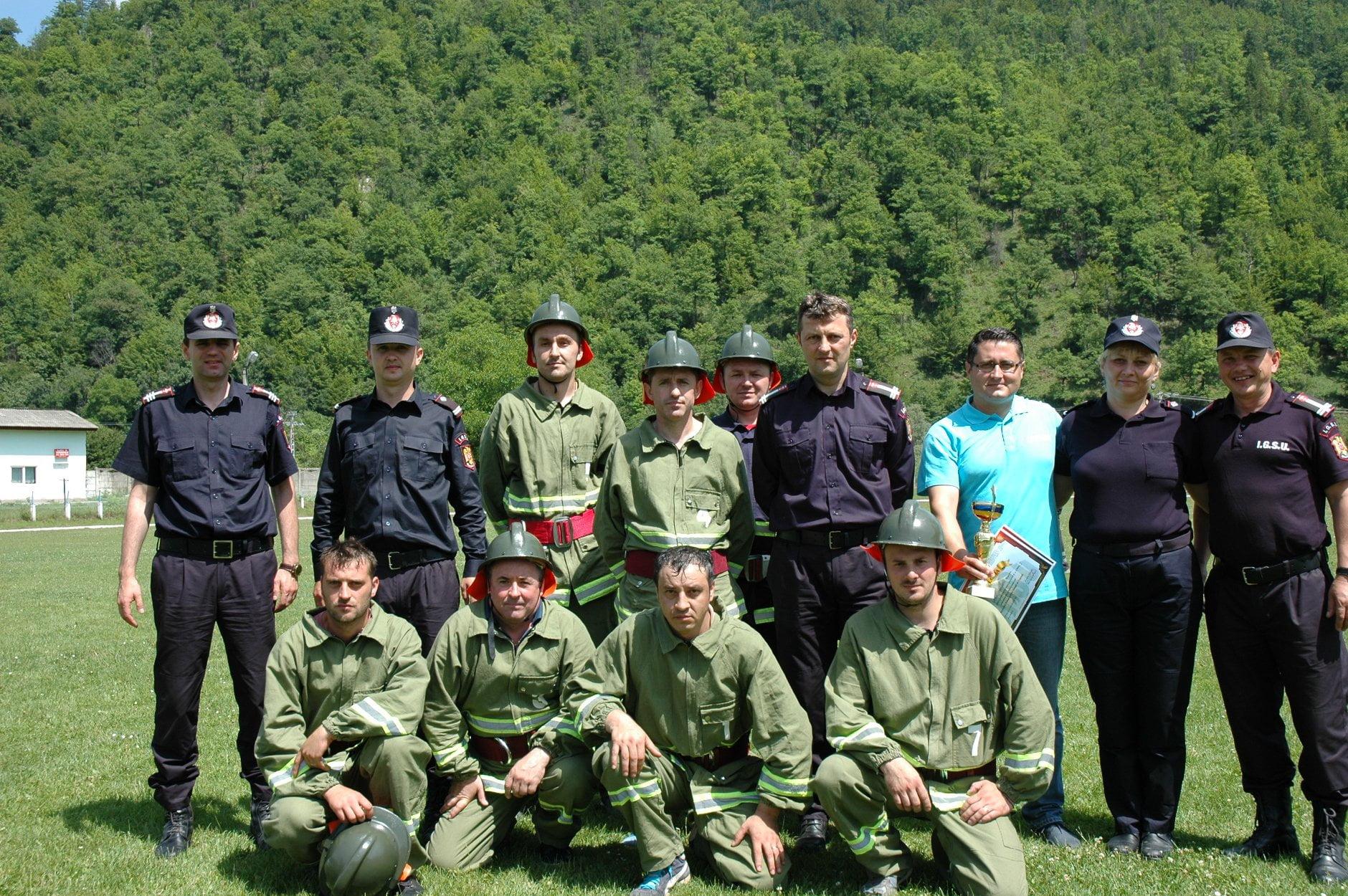 Salvatorii de la CERSANIT, primii din județ în Concursul Serviciilor Private pentru Situaţii de Urgenţă