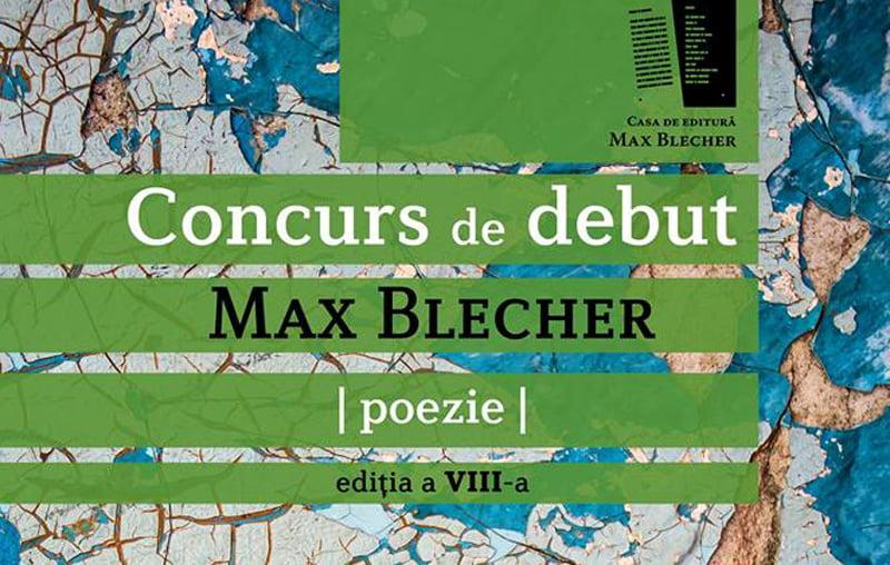 Ediția a VIII-a a concursului de debut în poezie Max Blecher