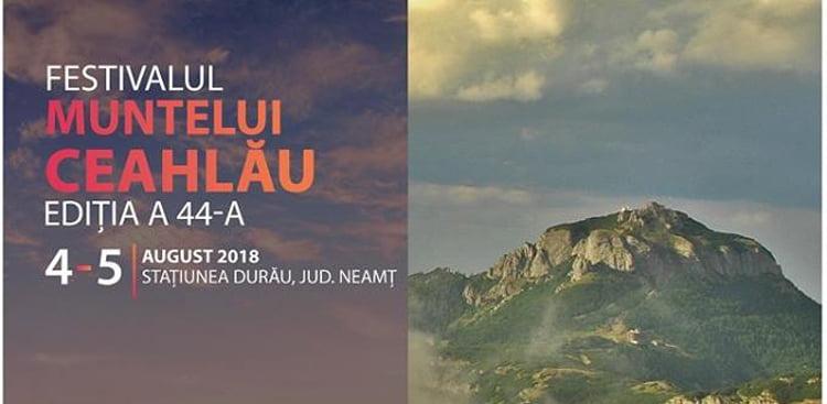 Festivalul Muntelui Ceahlău, în acest weekend, în stațiunea Durău