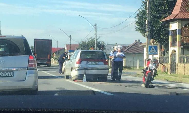 Motociclist rănit în urma unui accident pe E 85, la Traian