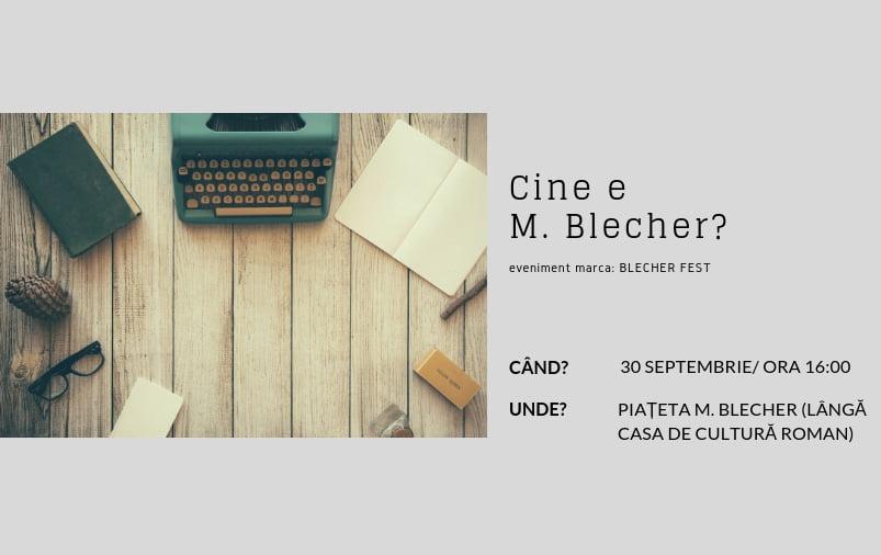"""Nou eveniment cultural marca Blecher Fest – """"Cine e Blecher?"""", pe 30 septembrie la Roman"""