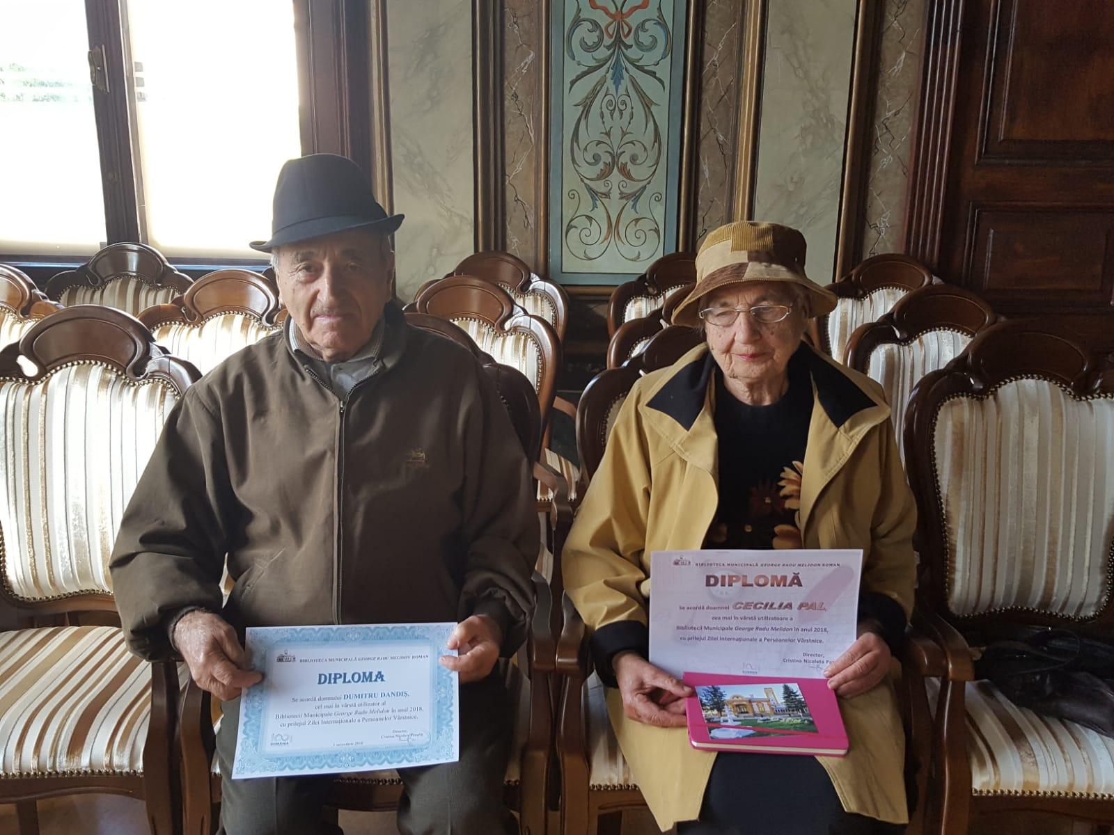 """Cei mai în vârstă cititori, premiați de Biblioteca Municipală """"George Radu Melidon"""""""