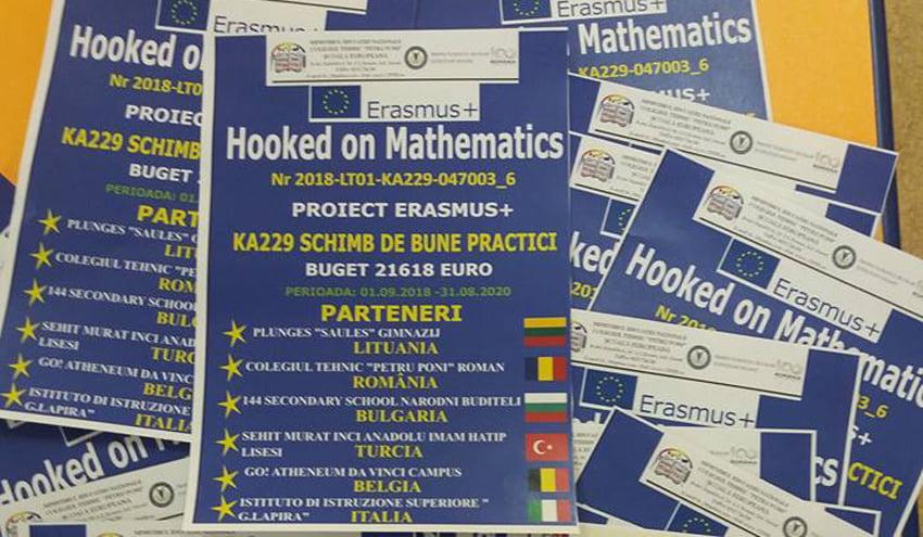 """Proiect Erasmus+ """"Hooked on Mathematics"""", la Colegiul Tehnic """"Petru Poni"""" din Roman"""