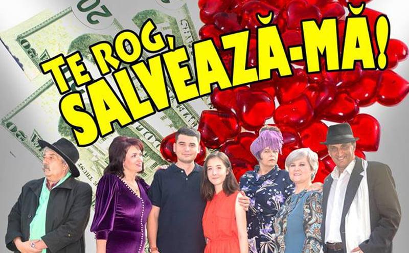 """Teatrul """"Dan Alecsandrescu"""" din Roman prezintă luni piesa """"Te rog, salvează-mă!"""""""