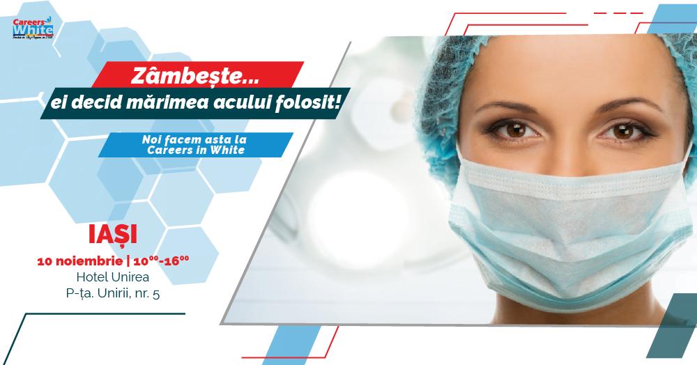Noutăți în materie de joburi pentru personalul medical, la Târgul de cariere în domeniul medical de la Iași